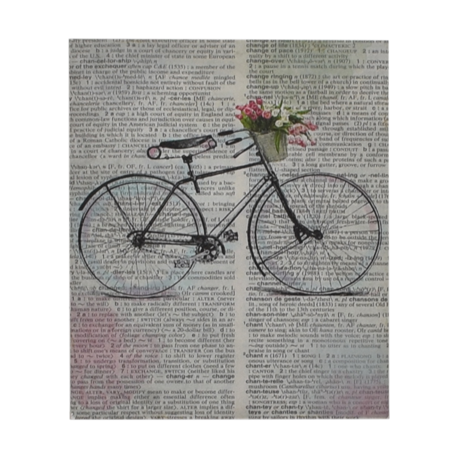 shop Bike Over Words Print