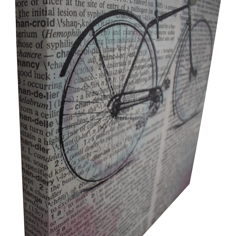 Bike Over Words Print sale