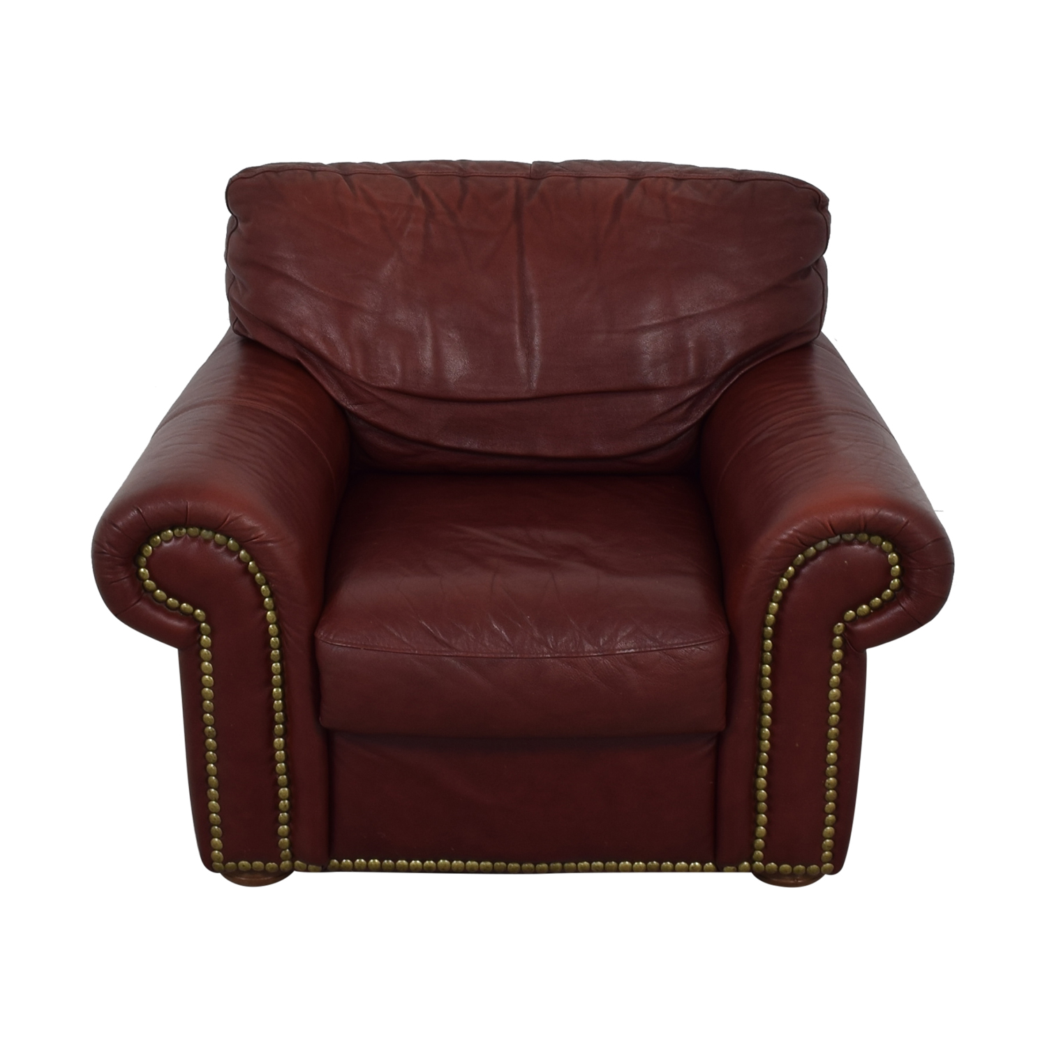 Enjoyable 90 Off Macys Macys Burgundy Nail Head Accent Chair Chairs Machost Co Dining Chair Design Ideas Machostcouk