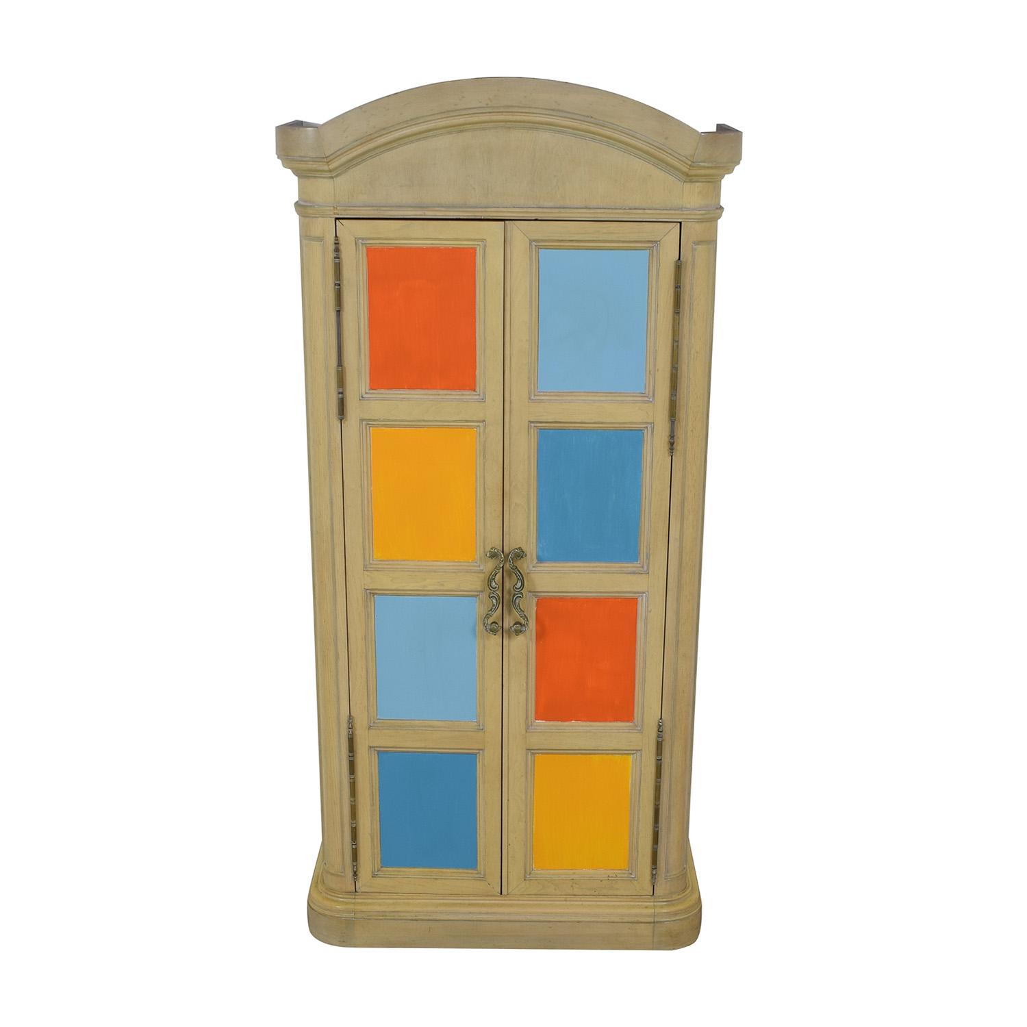 Drexel Drexel Painted Country Fresh Wood Armoire second hand