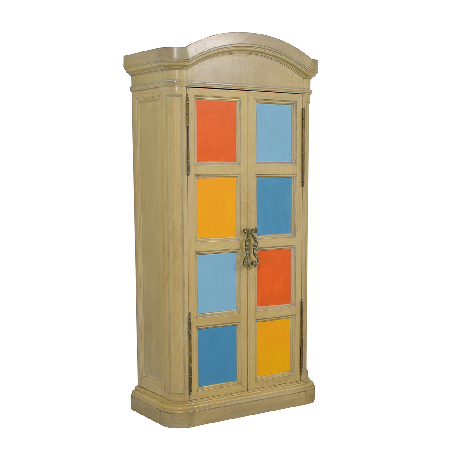 Drexel Drexel Painted Country Fresh Wood Armoire on sale