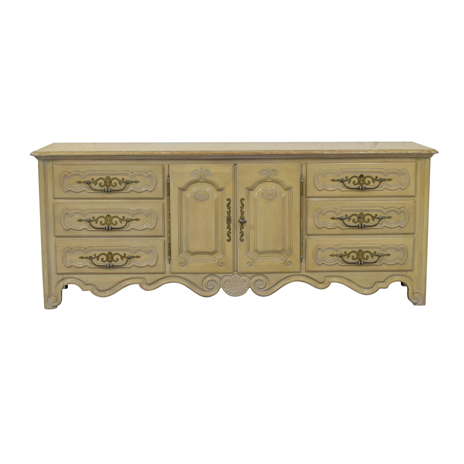 Drexel Drexel Country French Nine-Drawer Dresser second hand