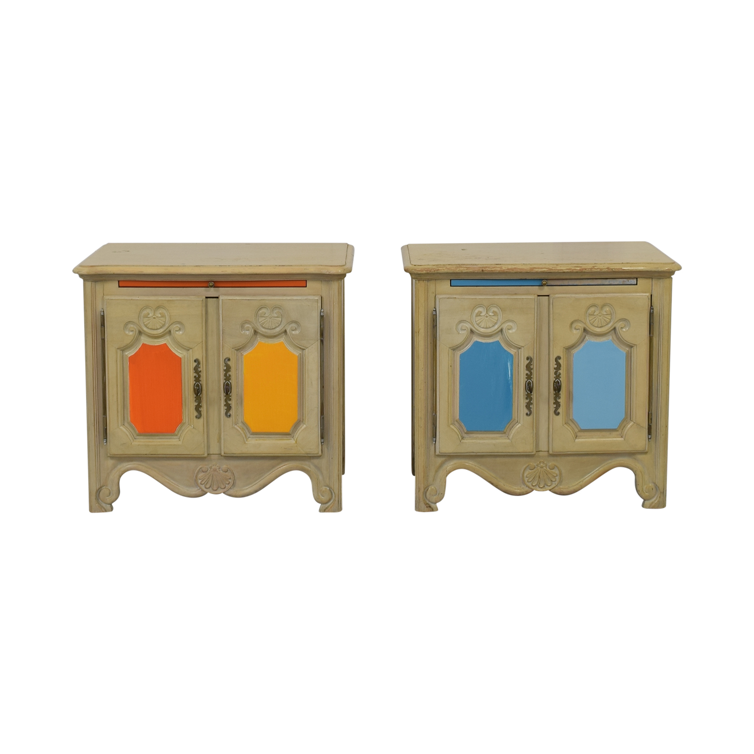 Drexel Drexel Painted French Country Side Tables price