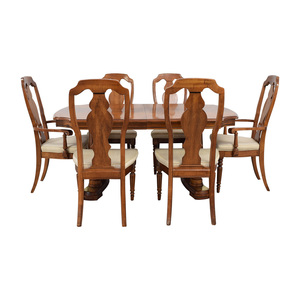 Extendable Wood Dining Set second hand