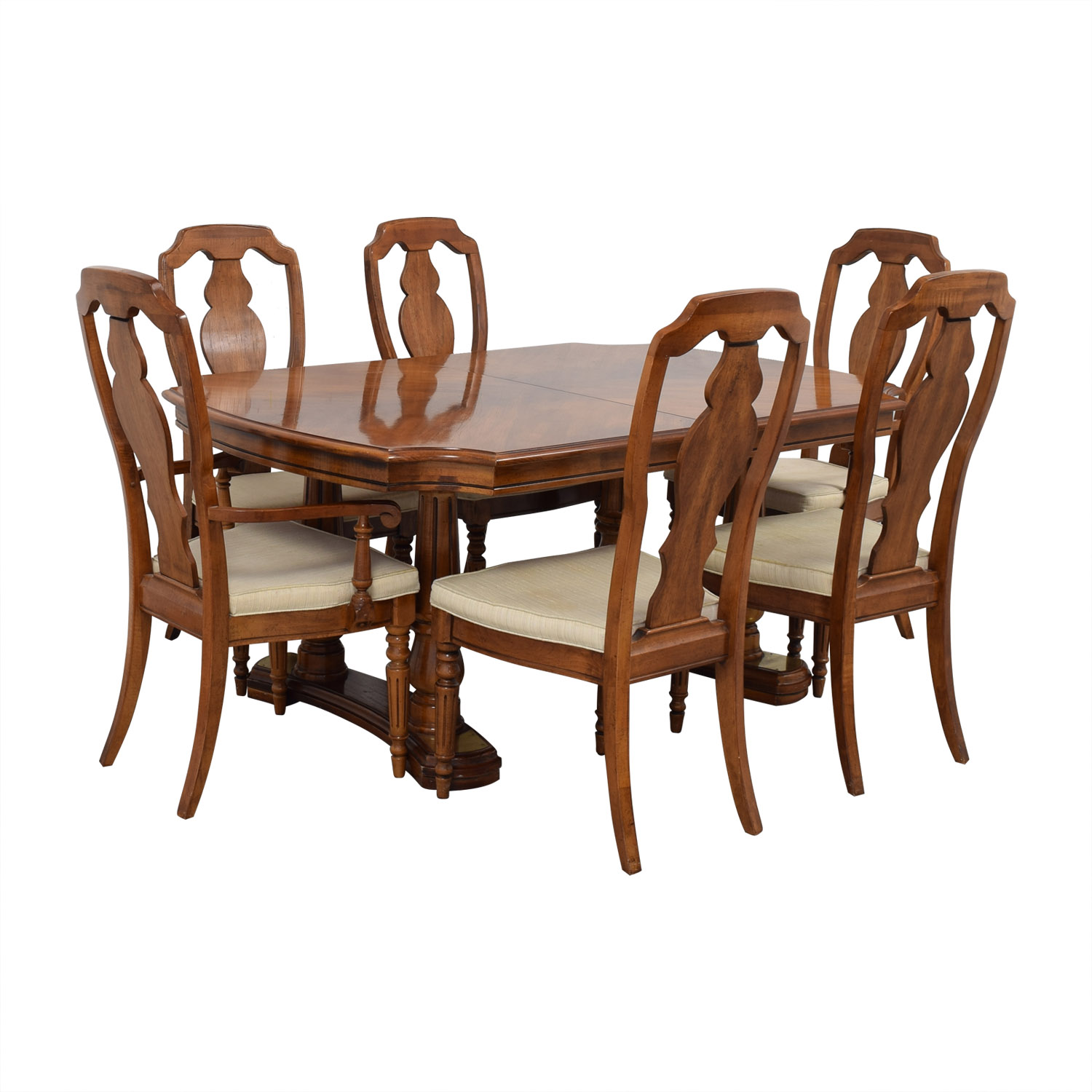 Extendable Wood Dining Set coupon