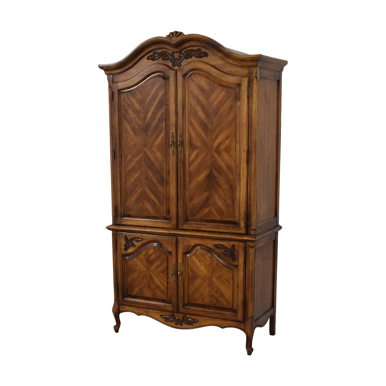 Wood Four-Drawer Clothing Armoire antique wood