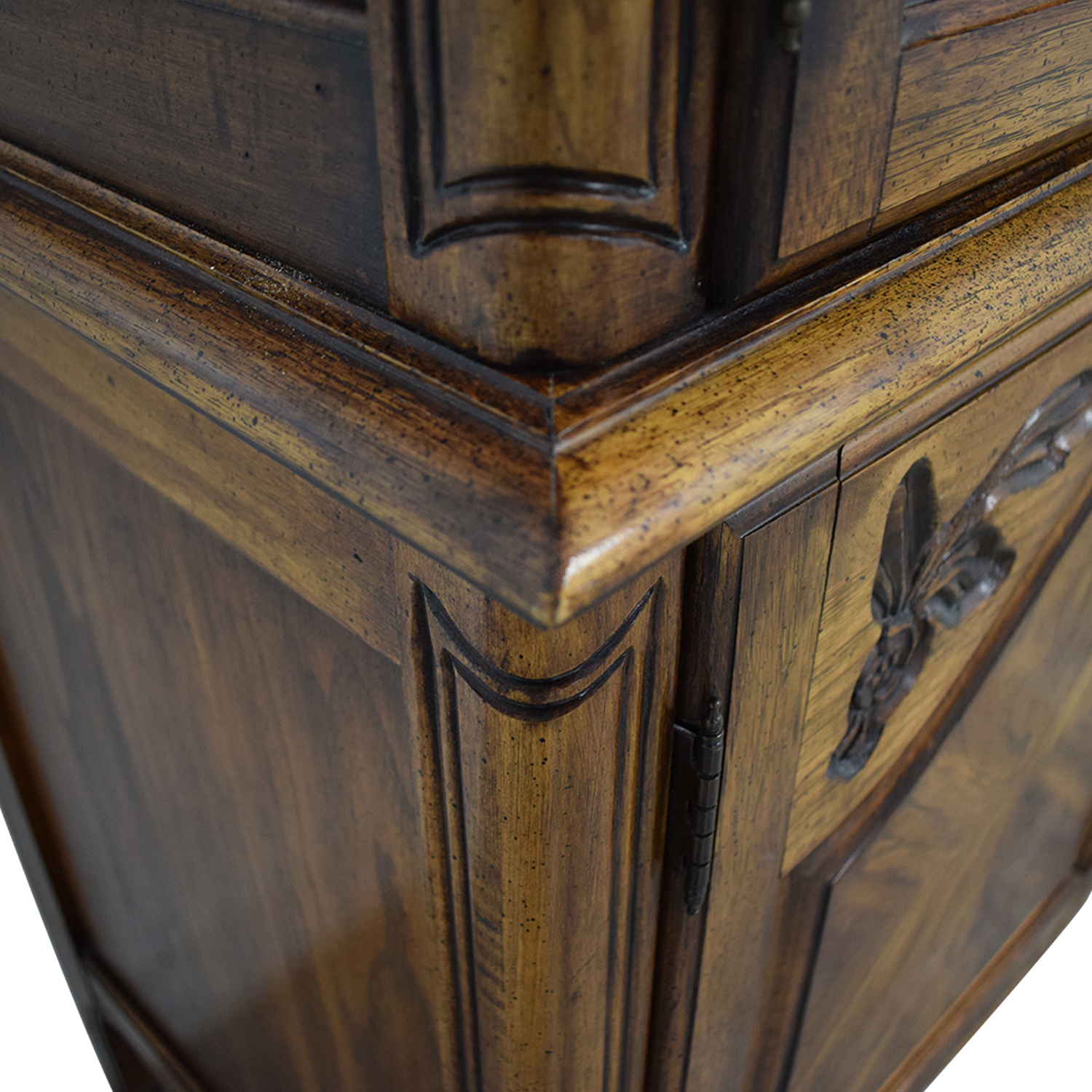 Wood Four-Drawer Clothing Armoire sale