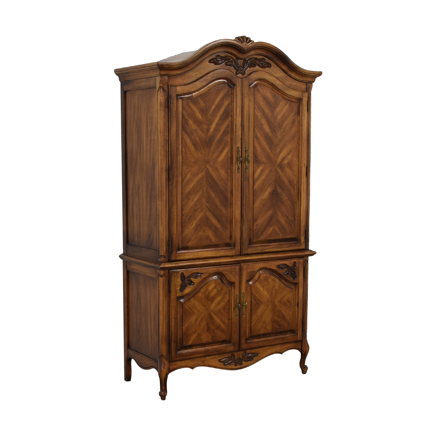 Wood Four-Drawer Clothing Armoire nyc
