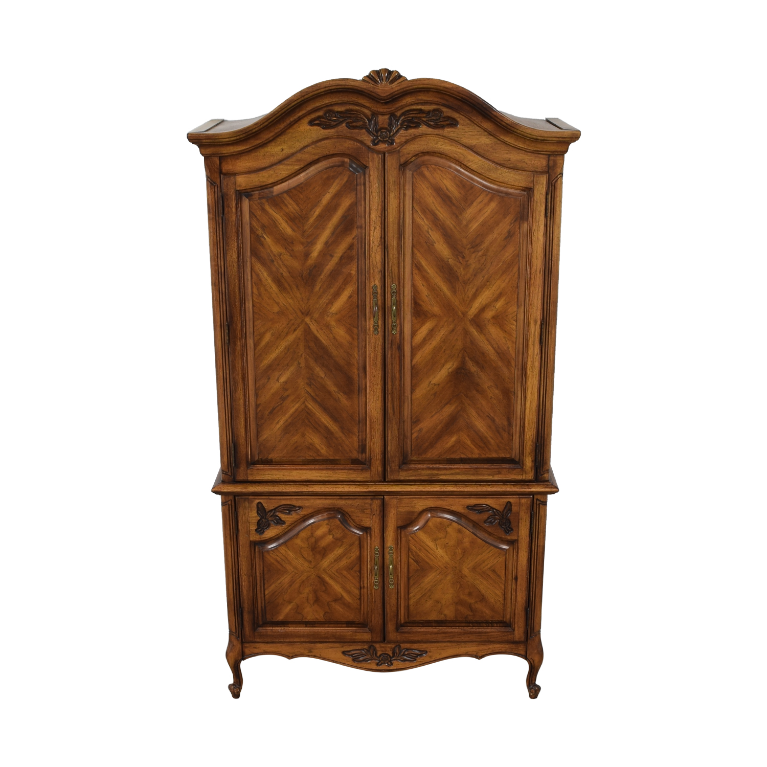 Wood Four-Drawer Clothing Armoire used