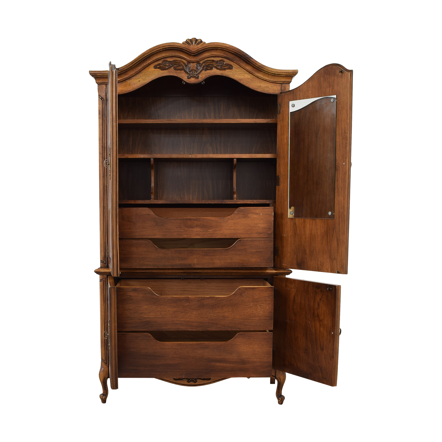 buy  Wood Four-Drawer Clothing Armoire online