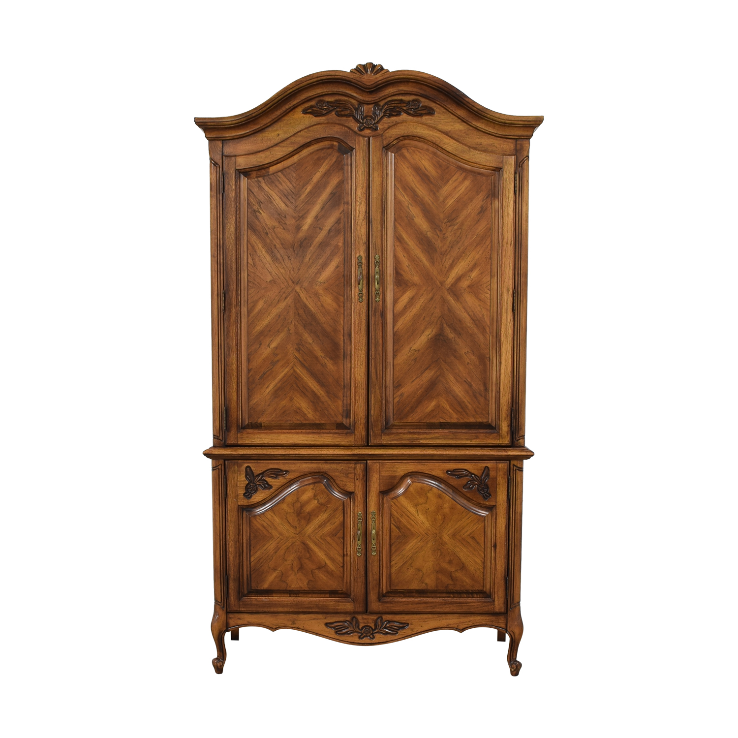 Wood Four-Drawer Clothing Armoire discount