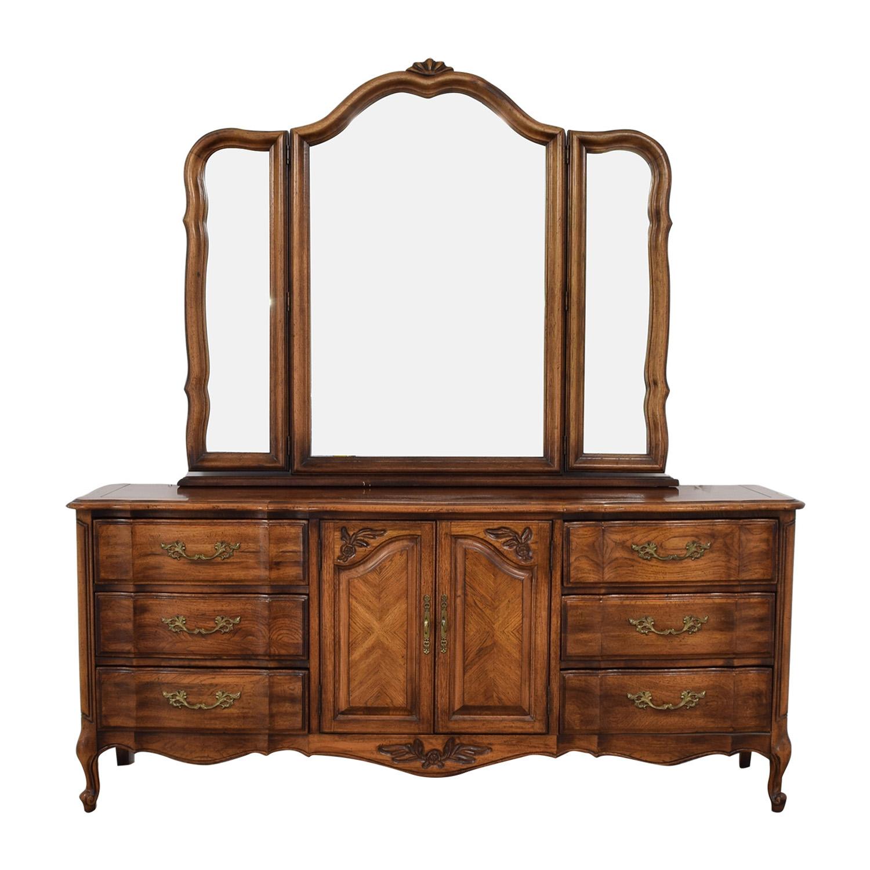 buy Burlington Furniture Nine-Drawer Dresser with Mirror Burlington Furniture Wardrobes & Armoires