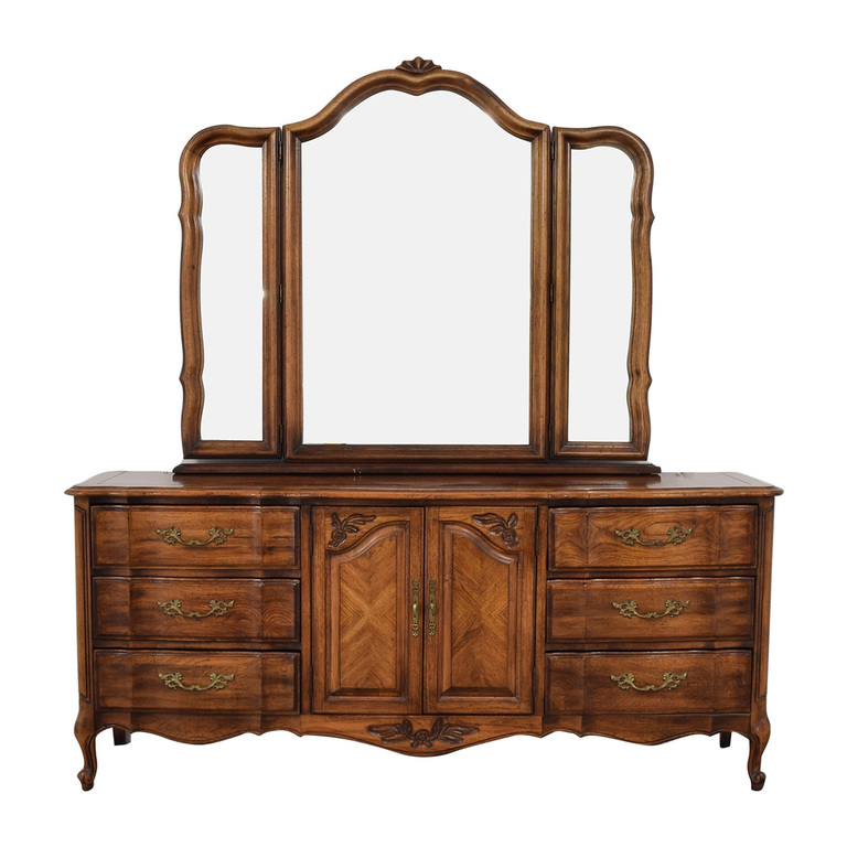 Burlington Furniture Burlington Furniture Nine-Drawer Dresser with Mirror for sale