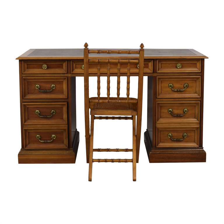 Vintage Writing Desk with Chair discount