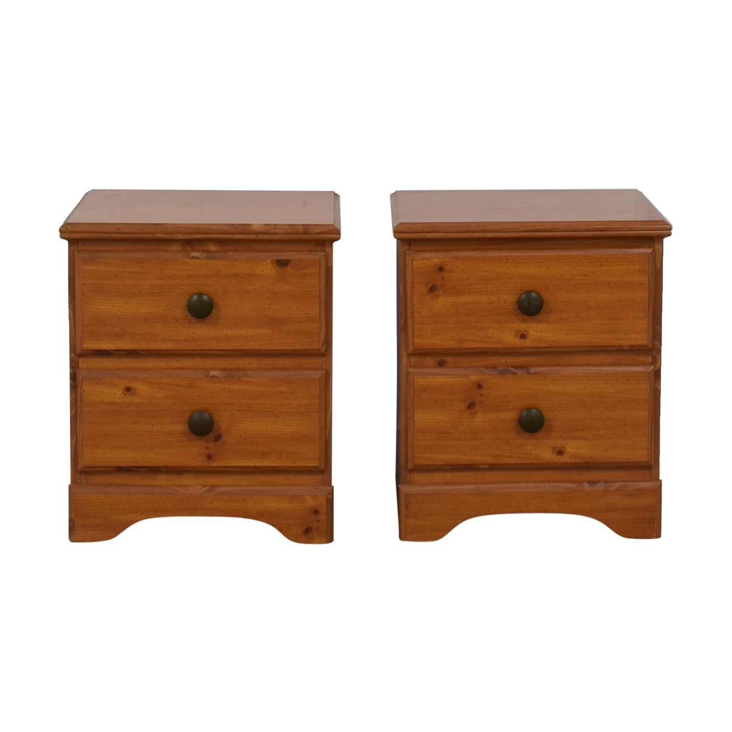 shop Chestnut Two-Drawer Night Stands  Tables