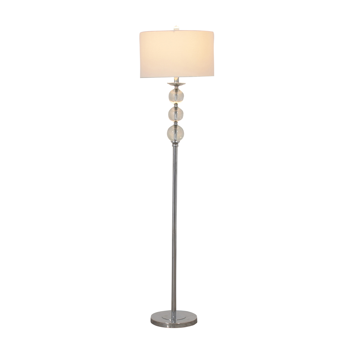 Safavieh Safavieh Friedman Chrome and Glass Floor Lamp