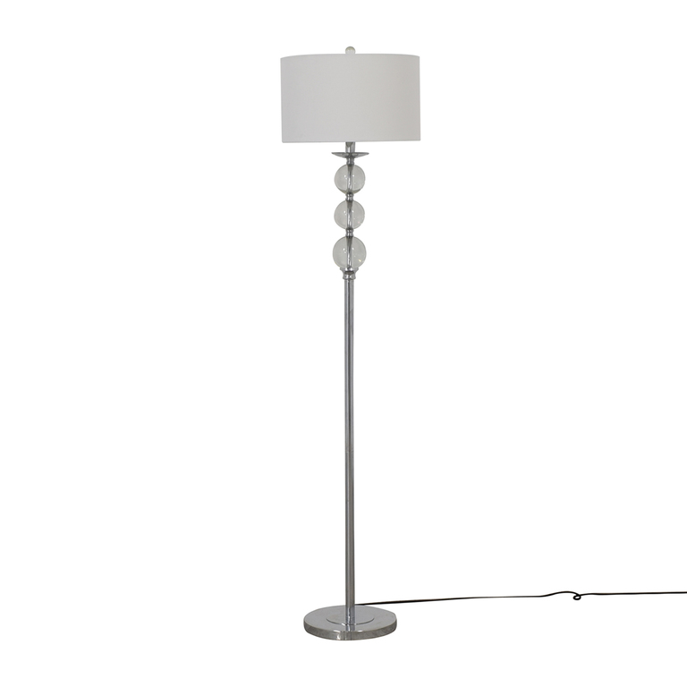buy Safavieh Safavieh Friedman Chrome and Glass Floor Lamp online