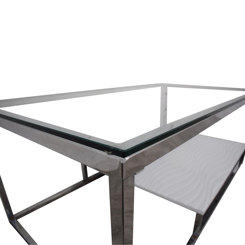 Swell 54 Off Wayfair Wayfair Saniya White And Chrome Coffee Table Tables Bralicious Painted Fabric Chair Ideas Braliciousco