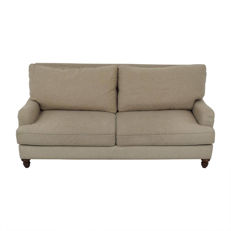 Klaussner Furniture Klaussner Furniture Distinctions Beige Two-Cushion Sofa dimensions