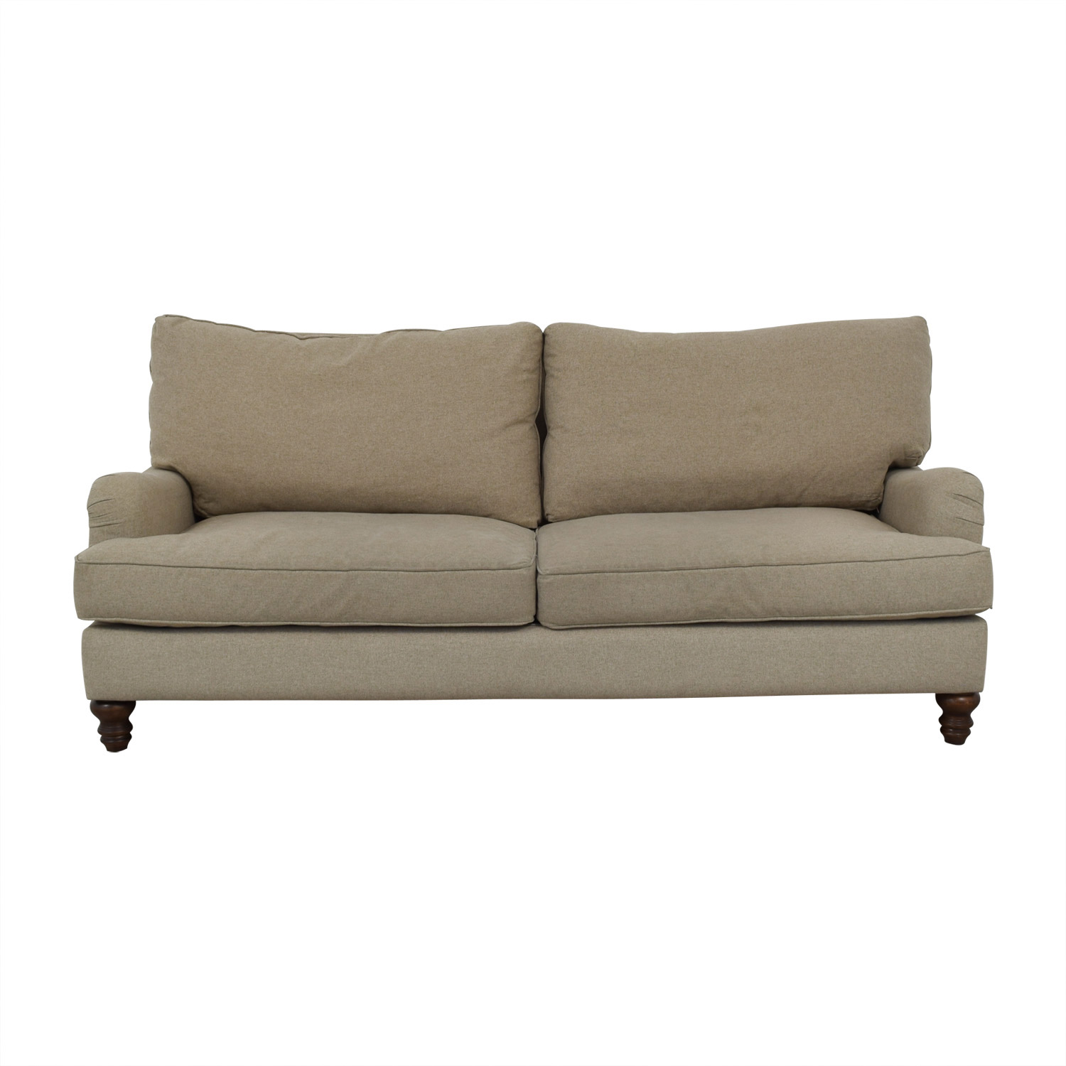 Klaussner Furniture Klaussner Furniture Distinctions Beige Two-Cushion Sofa Classic Sofas