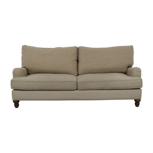 Klaussner Furniture Klaussner Furniture Distinctions Beige Two-Cushion Sofa nyc