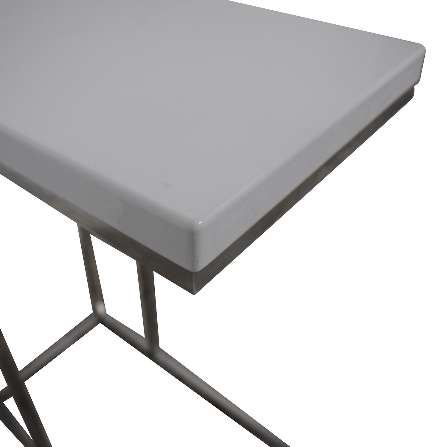 49 Off Gilty White Chrome Side Table Tables