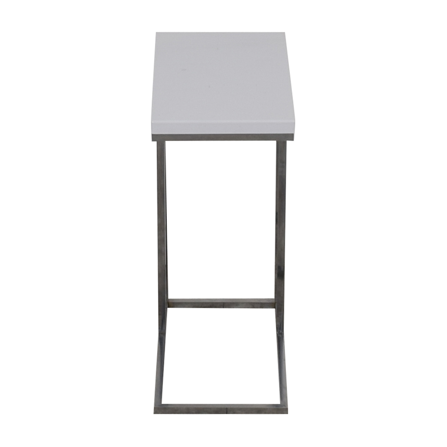 Gilty White Chrome Side Table Tables
