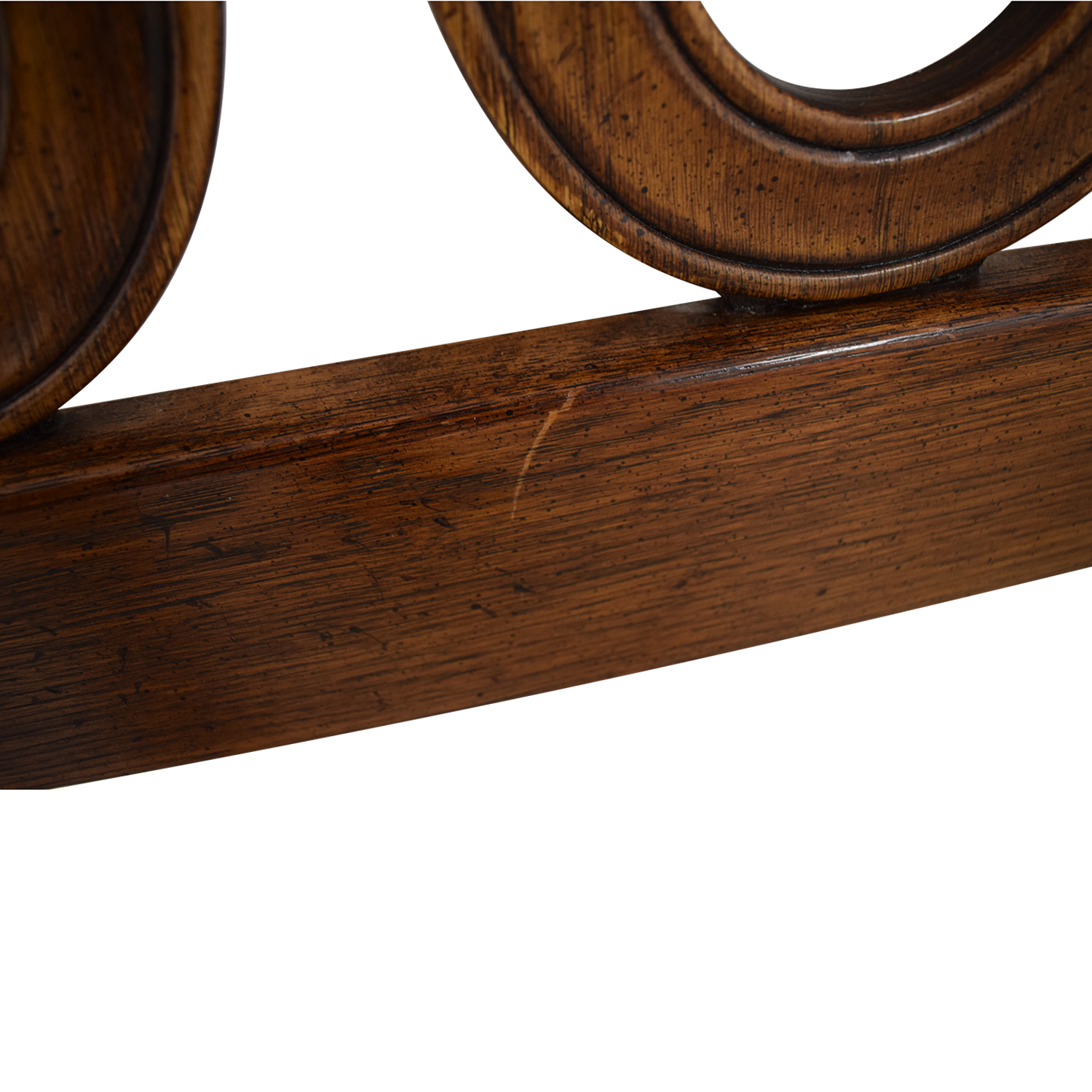 Carved Inlayed Wood Queen Headboard Beds