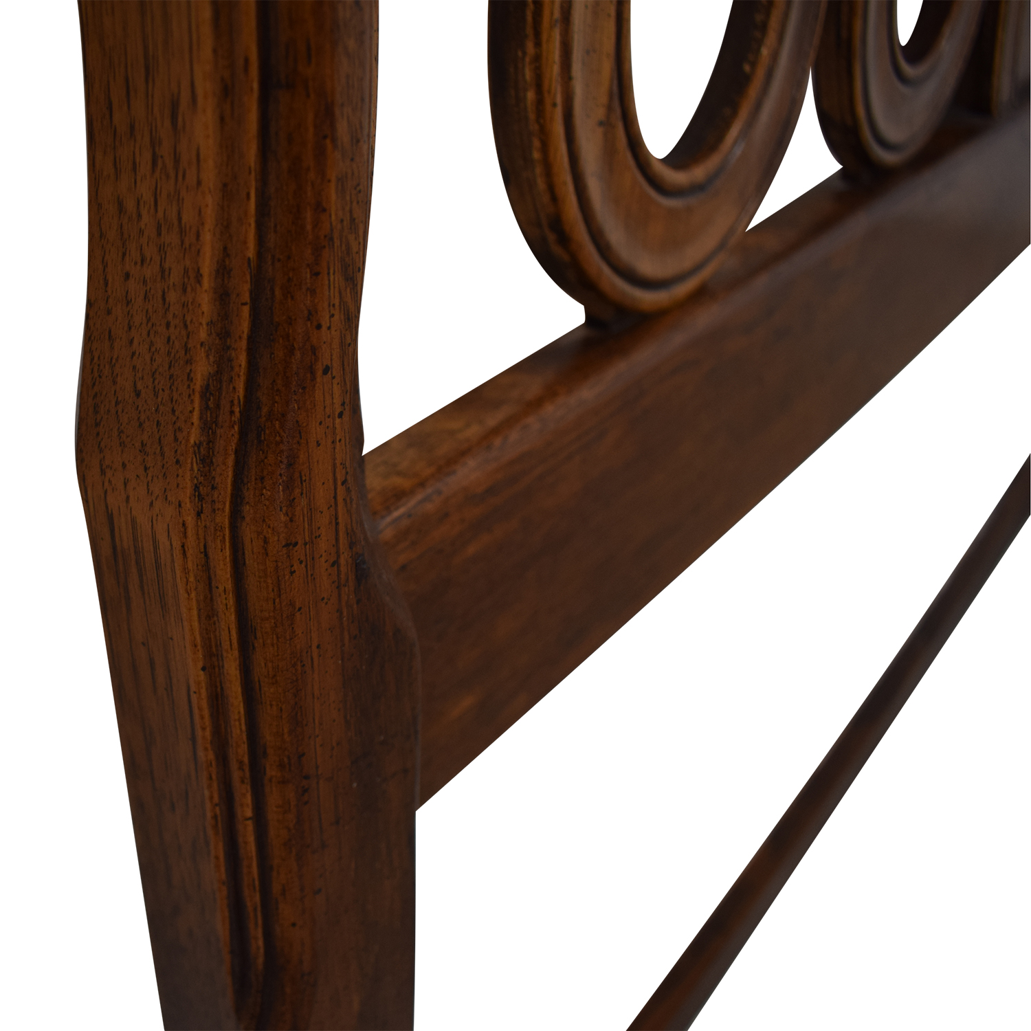 Carved Inlayed Wood Queen Headboard