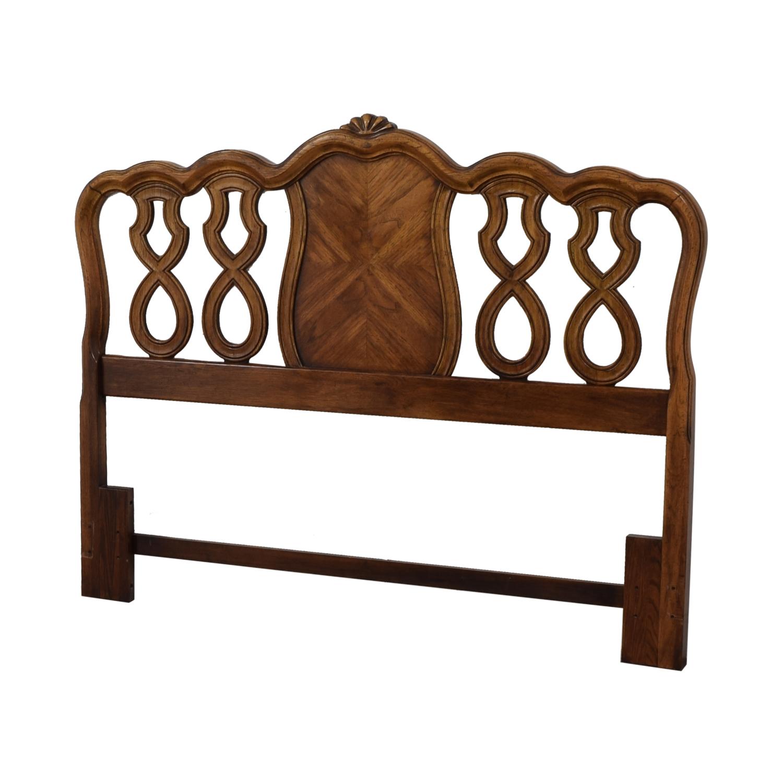buy  Carved Inlayed Wood Queen Headboard online