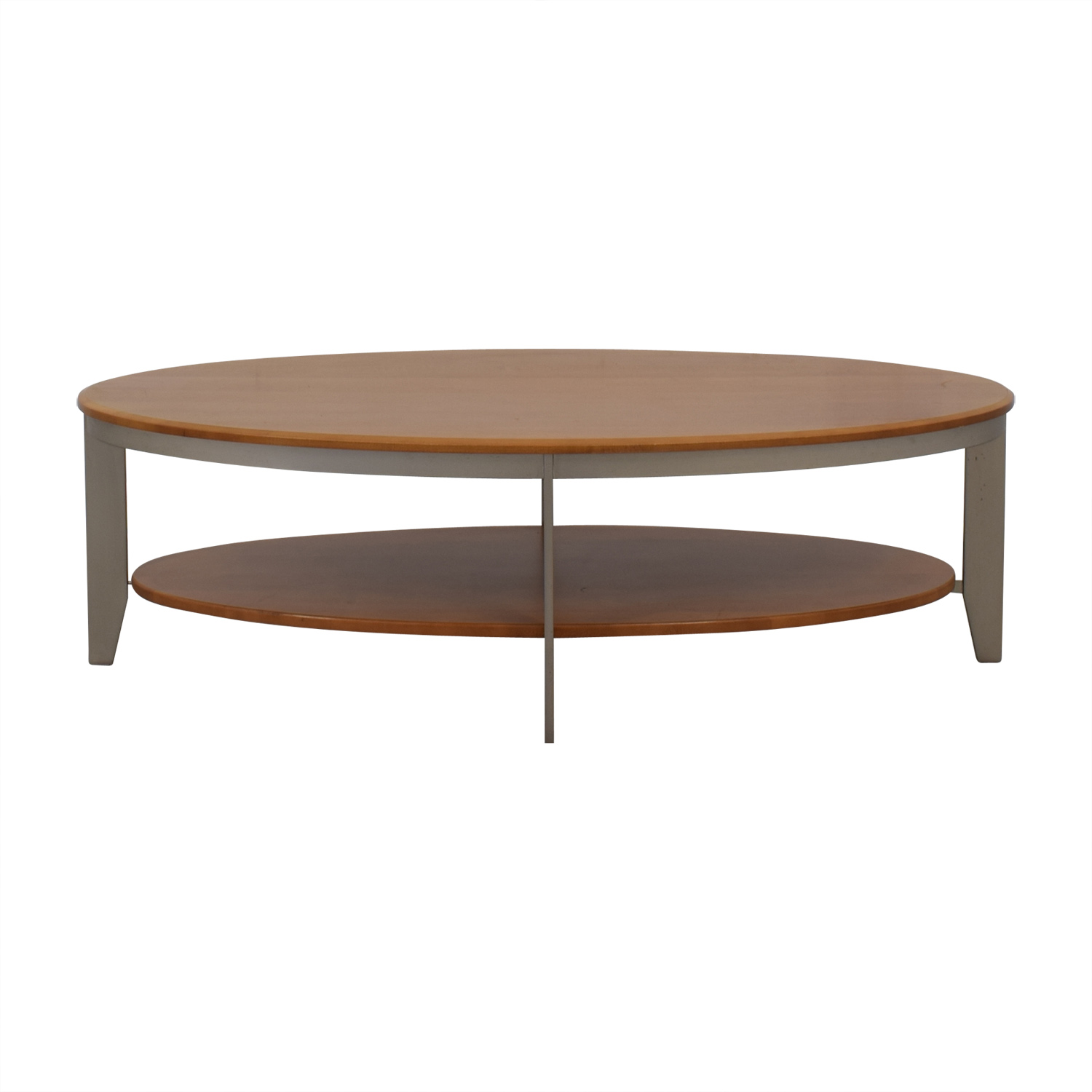 shop Ethan Allen Elements Collection Honey Oval Coffee Table Ethan Allen Tables