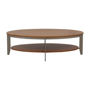 Ethan Allen Ethan Allen Elements Collection Honey Oval Coffee Table on sale