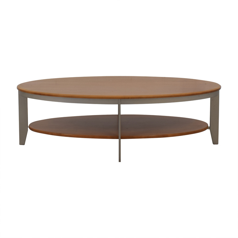 Ethan Allen Ethan Allen Elements Collection Honey Oval Coffee Table nj