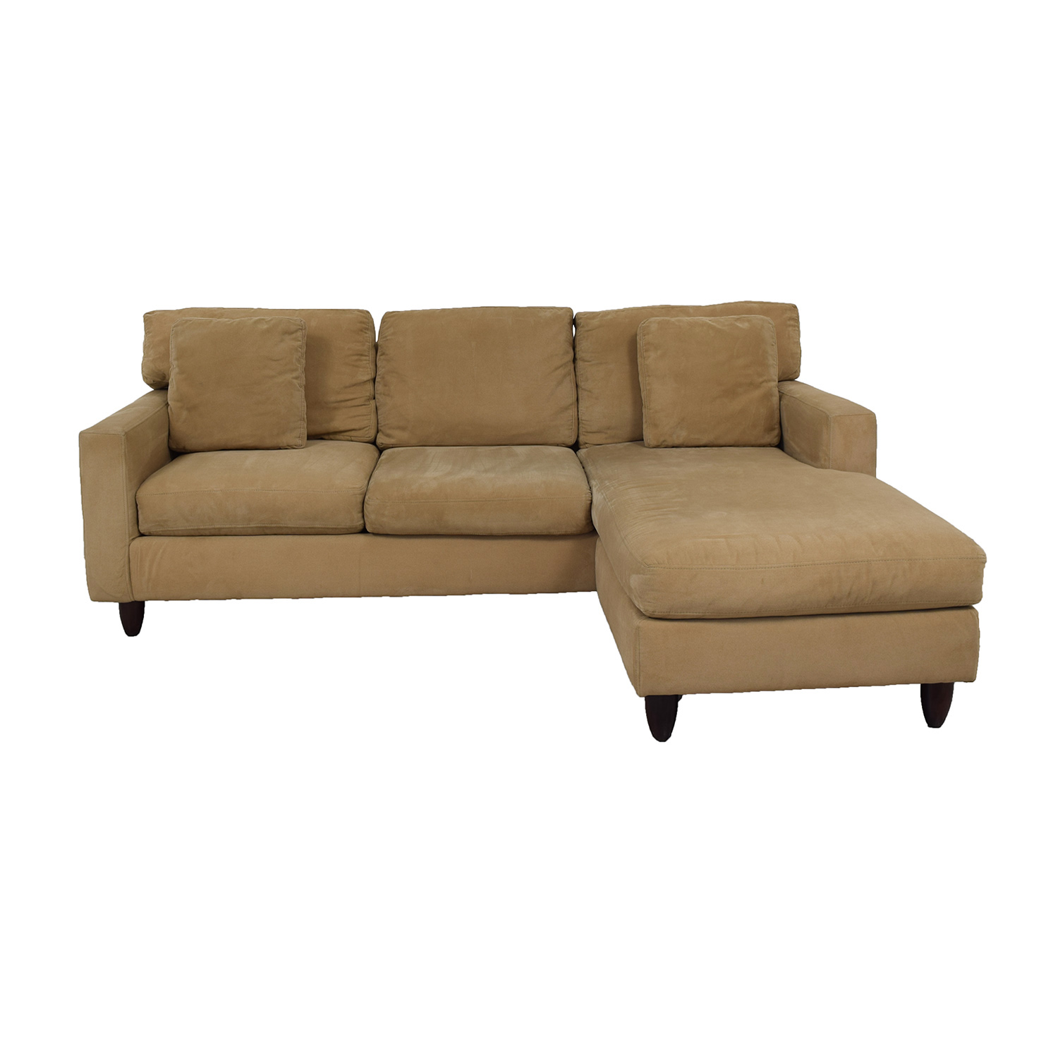 Max Home Max Home Tan Sectional Sofa Beige