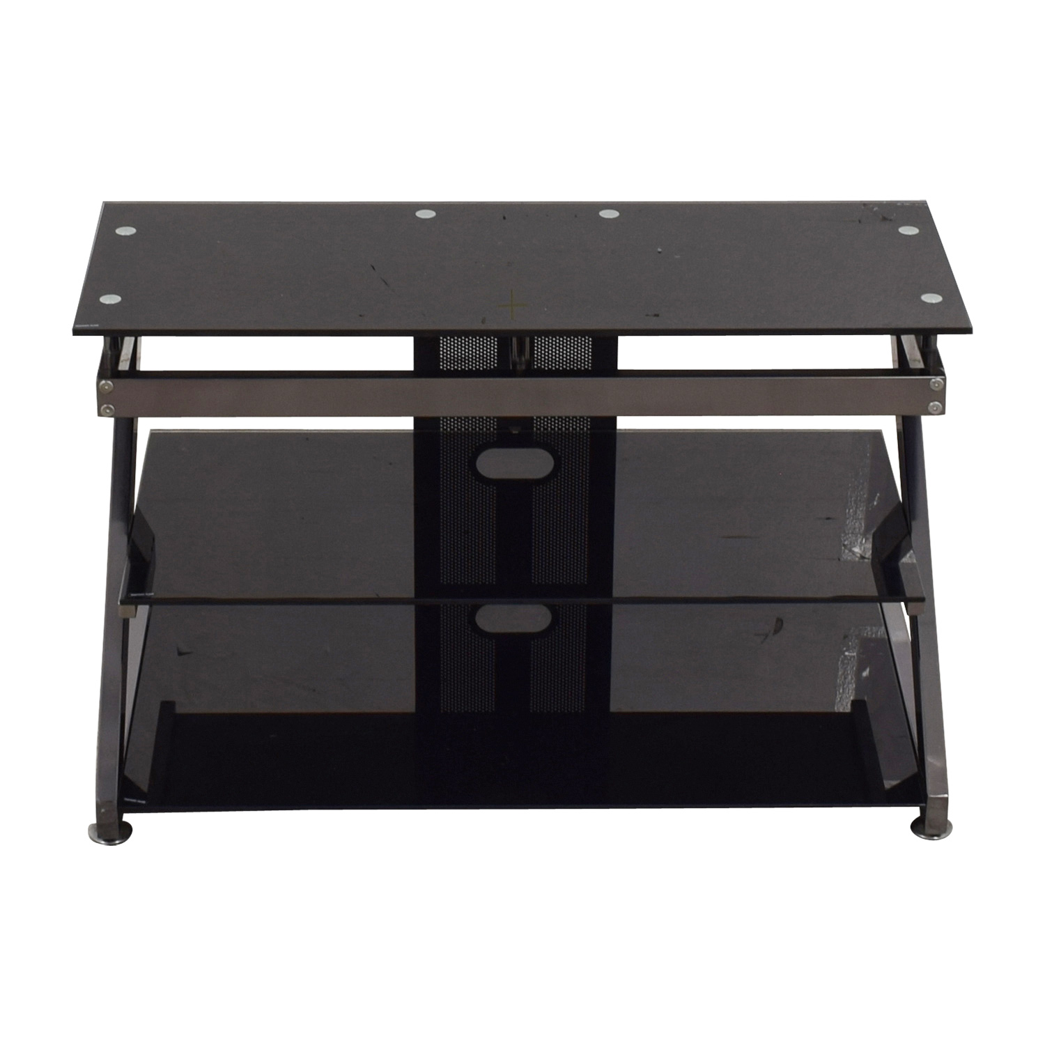 Black and Chrome TV Media Stand / Media Units