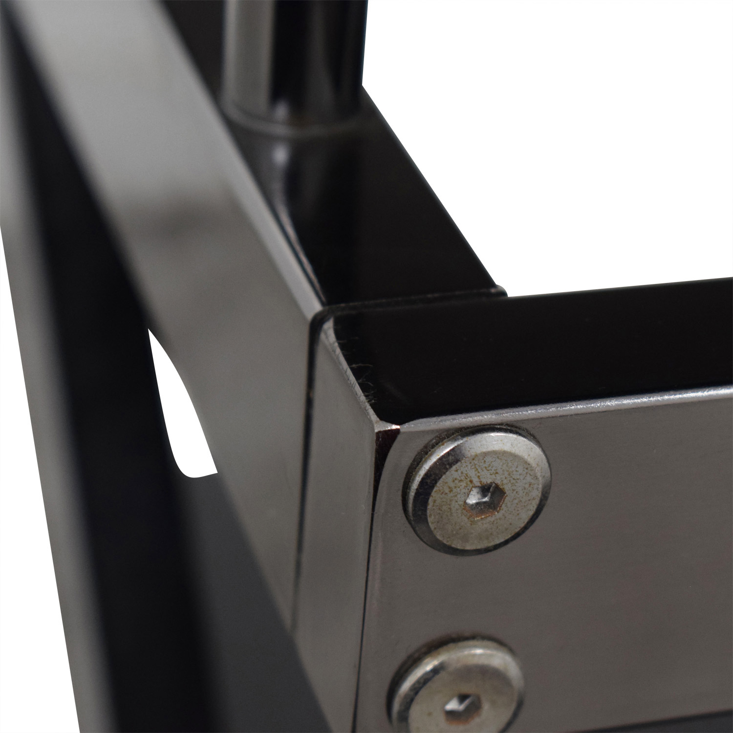 Black and Chrome TV Media Stand coupon