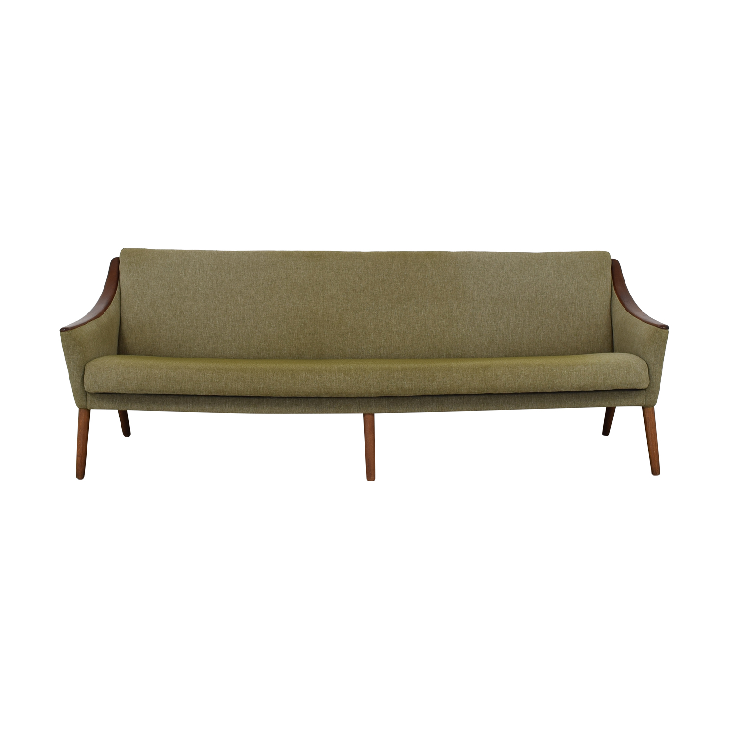Nanna Ditzel Mid Century Teak Sculpted Arm Sofa sale