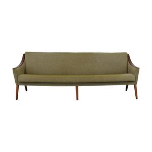 buy Nanna Ditzel Mid Century Teak Sculpted Arm Sofa  Sofas