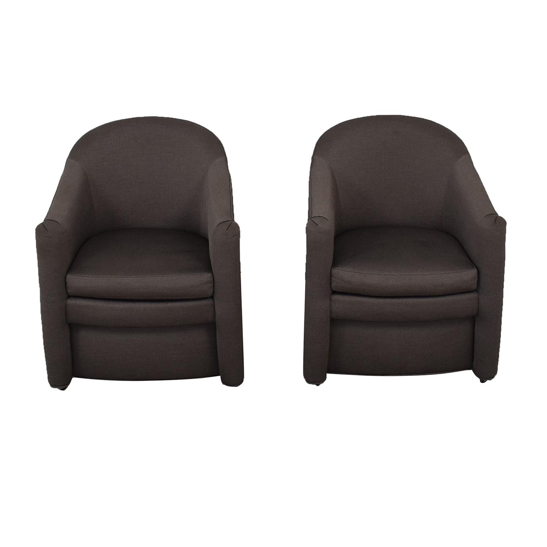 Kravet Kravet Grey Wianno Accent Chairs discount