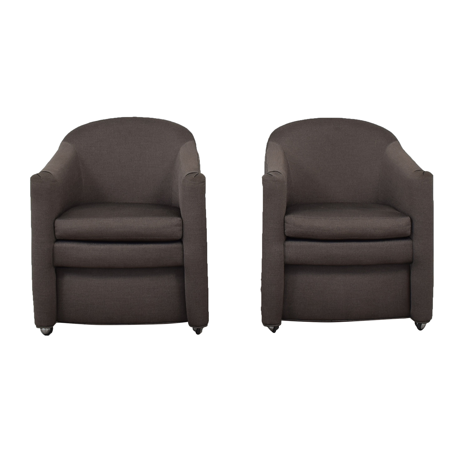 Kravet Kravet Grey Wianno Accent Chairs nj