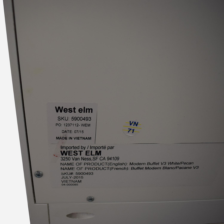 West Elm West Elm White Modern Buffet Cabinets & Sideboards