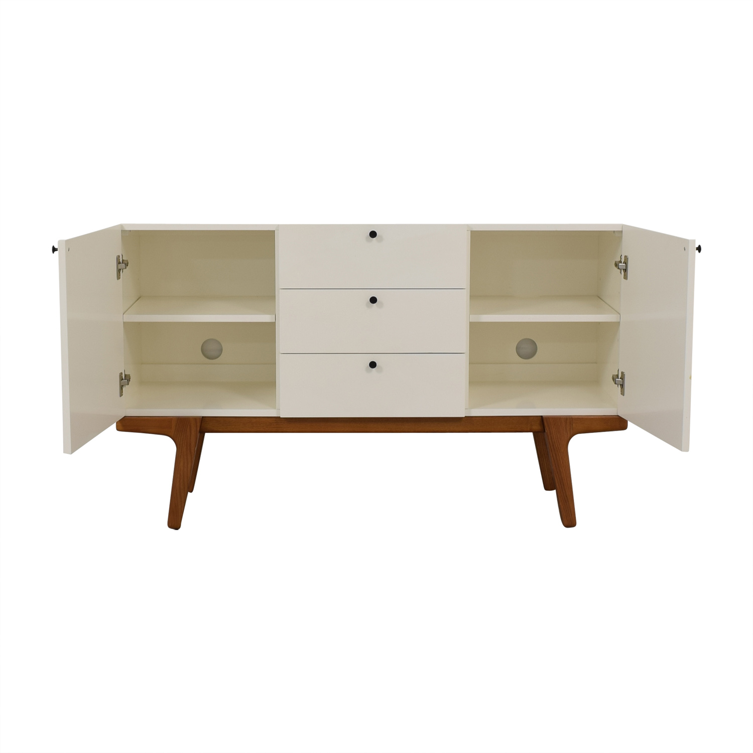 buy West Elm White Modern Buffet West Elm