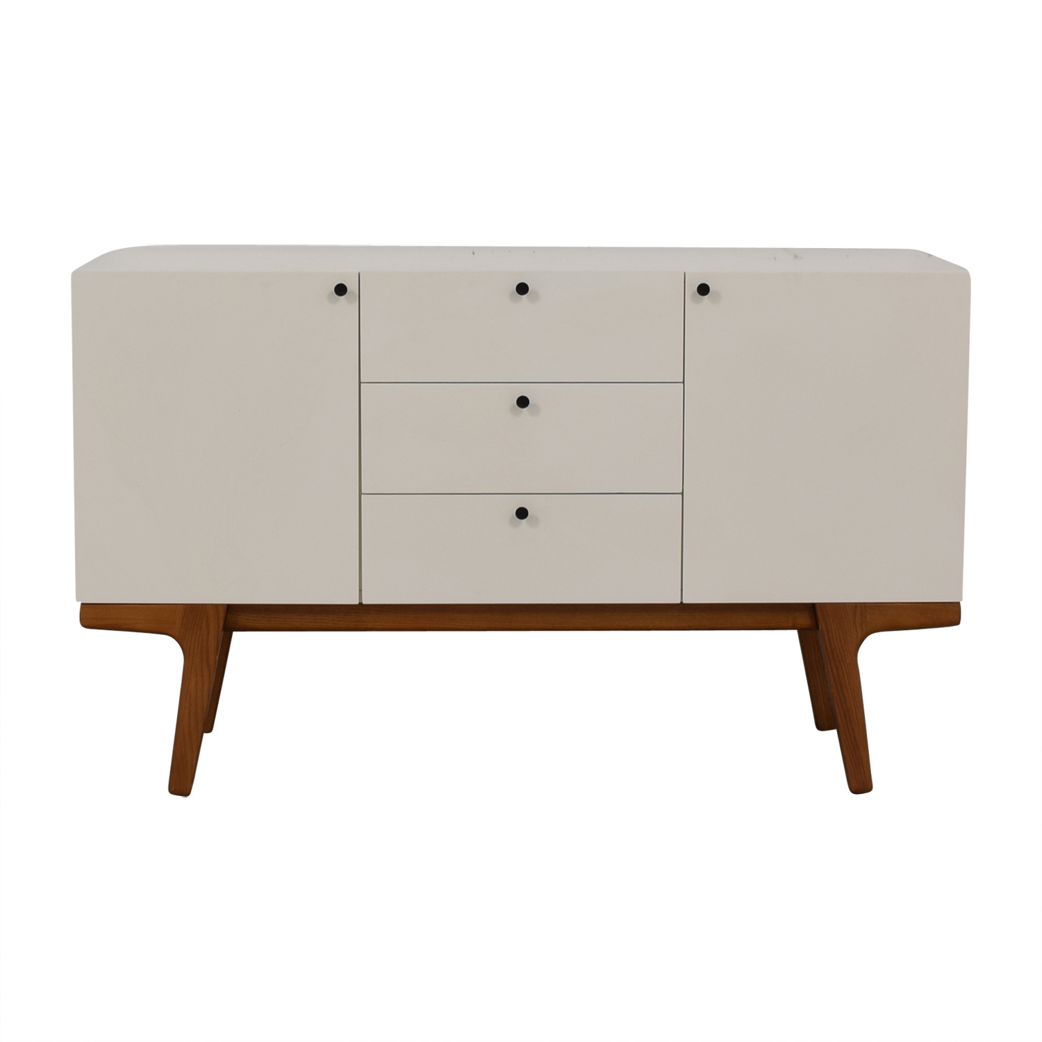 West Elm White Modern Buffet West Elm