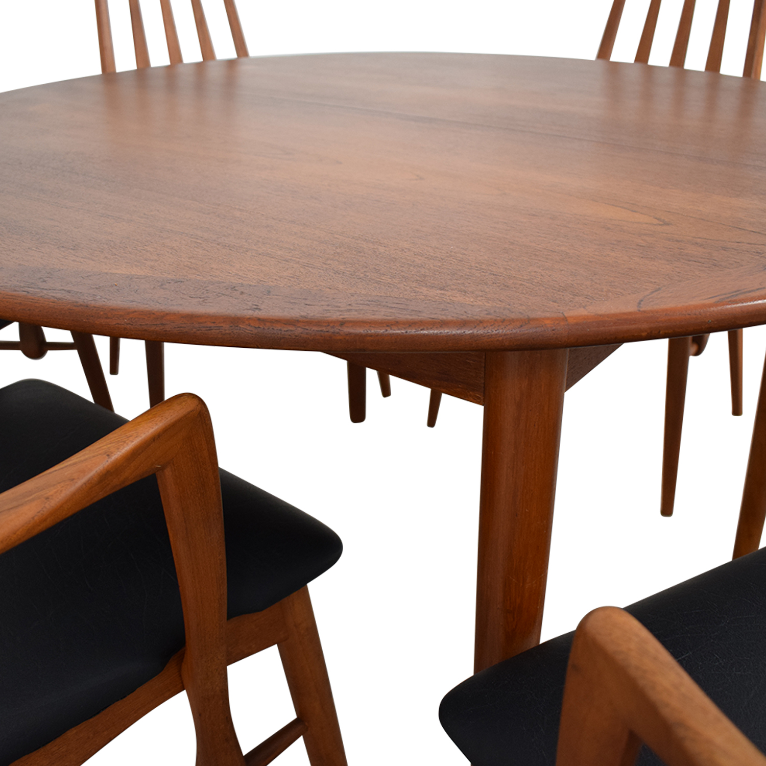 Fine 64 Off Danish Mid Century Extendable Teak Dining Set Tables Squirreltailoven Fun Painted Chair Ideas Images Squirreltailovenorg