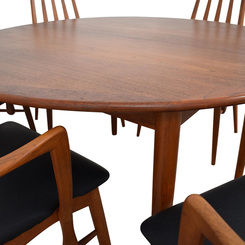 buy Danish Mid Century Extendable Teak Dining Set  Tables