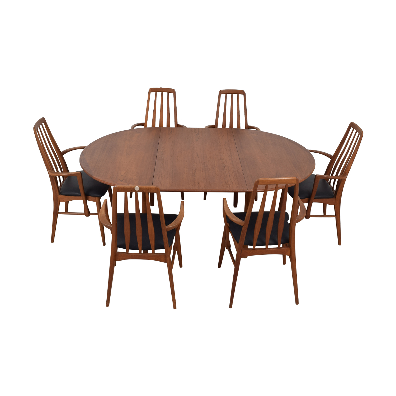 Danish Mid Century Extendable Teak Dining Set dimensions