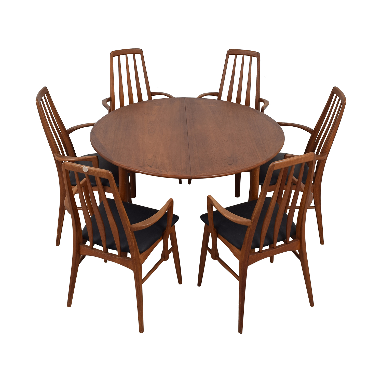 64% OFF   Danish Mid Century Extendable Teak Dining Set / Tables