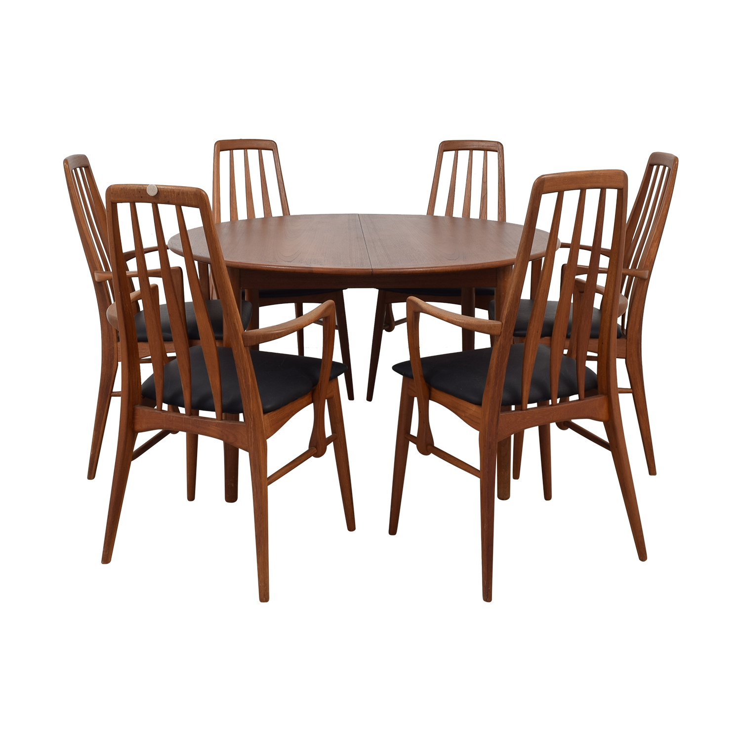 Danish Mid Century Extendable Teak Dining Set sale