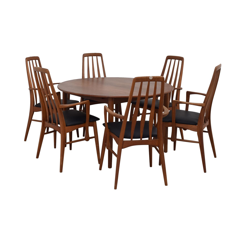 Danish Mid Century Extendable Teak Dining Set sale
