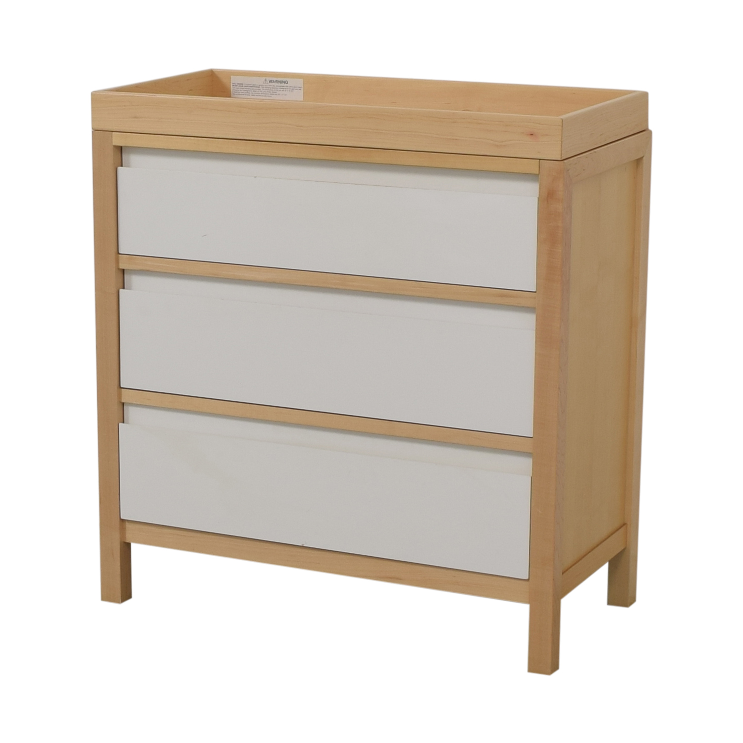 81% OFF   Land Of Nod Land Of Nod Dresser With Changing Table Top / Storage